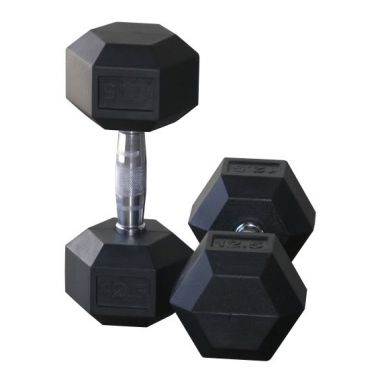 Rubber Hex Dumbbell (In pairs)