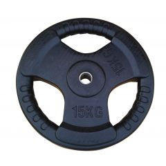 15KG Rubberize Tri-Grip Weight Plate
