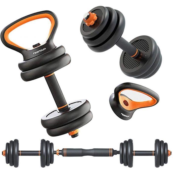 4 in 1 Dumbbell Kettlebell Barbell Adjustable Weight Set